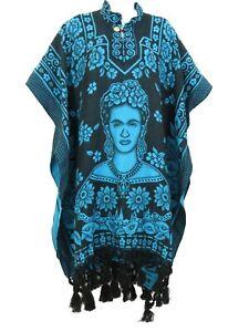 Frida Kahlo Soft Poncho One Size