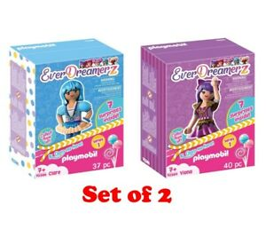 (Lot 2) Playmobil EverDreamerz Clare & Viona Charm Surprise Inside Doll Figures