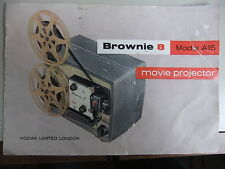 Instructions cine projector  KODAK BROWNIE 8 Model A15 - CD/Email