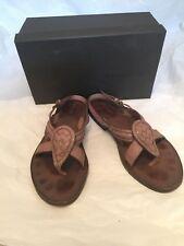Bottega Veneta brown leather old petra strappy sandals sz 40 - $540