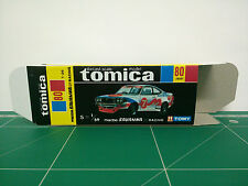 REPRODUCTION BOX for Tomica Black Box No.80 Mazda Savanna GT Racing
