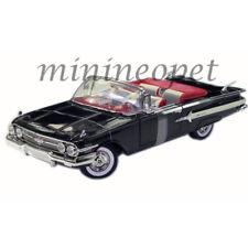 MOTORMAX 73110 1960 CHEVROLET IMPALA CONVERTIBLE 1/18 DIECAST MODEL CAR BLACK
