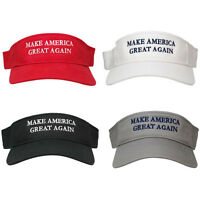 Donald Trump Visor, Make America Great Again - Quality Embroidered 100% Cotton