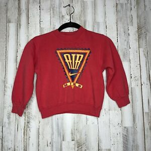 Vtg 90s Nike Air Sweatshirt Kids Toddlers Size 5/6 Bright Red Excellent Print