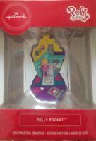 Hallmark Red Box Christmas Tree Ornament Polly Pocket Mini Doll 2019 New