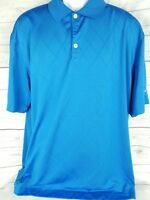 Nike Golf Mens Dri Fit XL Short Sleeve Light Blue Athletic Polo Shirt