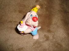 "1985 Wrinkles Birthday Cake & Party hat Ganz Bros PVC Figure 2.25"""