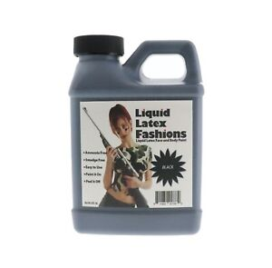 8 oz, Black - Face and Body Paint – Ideal for Halloween, Parties and Cosplay
