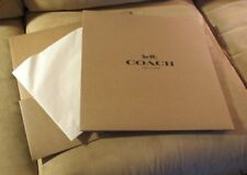 Coach Brown Gift Box (14 x 14 x 5.5 in) with Tissue - New!