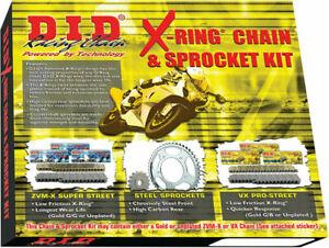 DID VX2 Pro-Street X-Ring 520 Chain/Sprocket Kit (16/46) 2009-2014 Yamaha FZ6R