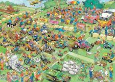Lawn Mower Race Jan van Haasteren 2000 Piece Cartoon Jigsaw Puzzle by Jumbo