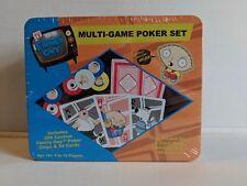 New Sealed Family Guy Multi Game Poker Set 200 Custom Poker Chips And Cards