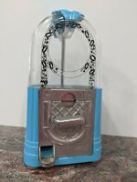 Vintage Carousel 25 Cent Jukebox Gumball Candy Vending Machine Dispenser - Blue