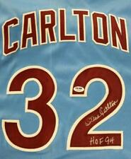 "STEVE CARLTON Signed ""HOF 89"" Phillies Jersey PSA Witness COA + Pic Proof"