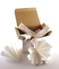 N°100 FILTRI di carta piegati a mano diametro 20cm per filtrare liquori grappa