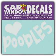 Car Window Decals: I Love Poodles | Dogs | Stickers Cars Trucks Glass