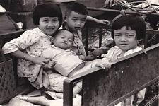 Vietnam 1971- Vietnamese Children Riding In A Home-Made Pedicab - Saigon