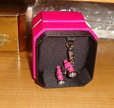 NEW JUICY COUTURE PINK BINOCULARS CHARM FOR BRACELET,NECKLACE, HANDBAG, KEYCHAIN