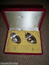 ISETAN Two Silver Holders IN ORIGINAL BOX 3.4 OUNCE SILVER