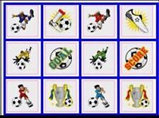 24 Temporary Football tatoos pack of 12 diferrent individual tatoos Boys Girls