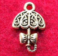 10Pcs. Tibetan Silver Lady's UMBRELLA Parasol Charms Pendants Findings PR94