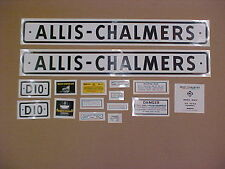 Decal set for Allis Chalmers D10 decal set, TRACTOR