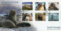 South Georgia & Sandwich Isl 2018 FDC Antarctic Fur Seal 6v Cover Animals Stamps