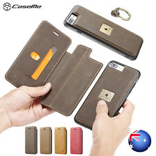iPhone 6s 6 7 8 Plus Leather Magnetic Removable Flip Wallet Case Cover For Apple