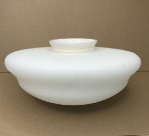 """White Frost Glass School House Style  Light Globe Shade 3 3/4"""" Fitter"""
