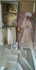 Franklin Heirloom Gibson Bride Doll NRFB!! SEE PHOTOS Accessories never removed!