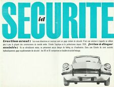 Citroen ID19 Brochure Dated 11/63 - In French