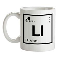 LLOYD - Periodic Element Mug - Surname - Family - Name - Tea - Coffee