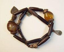 Vintage MARC LABAT 70's Rare Quartz Stone Bracelet