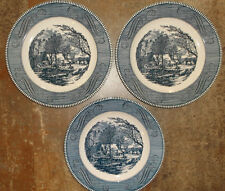 Currier & Ives Plates 'The Old Grist Mill' by Royal China