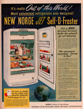 AD LOT OF 2 1944-RETRO WWII NORGE REFRIGERATOR GLOBE POWER KING FOOD 7 UP