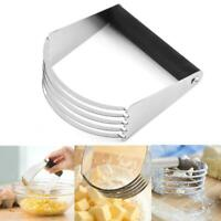 Stainless Steel Soft Grip Pastry Blender Dough Cutter Flour Mixer Cake Cheese HO