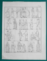 TATAR People Costume Japan China Lama Mandarin Priest - 1828 Antique Print