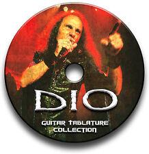 DIO ROCK HEAVY METAL GUITAR TAB TABLATURE SONG BOOK SOFTWARE CD