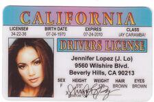 Jennifer Lopez , j lo Jenny from the Block novelty id card Drivers License mark