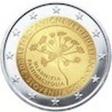 RARE  PIECE  2€  SLOVENIE  2010  COMMEMORATIVE  200  ANS  DES JARDINS BOTANIQUES