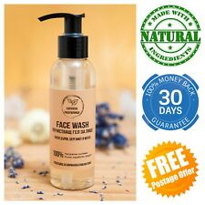 Tea Tree Natural Face Wash Cleanser Mild castor-oil soap Facial Antibacterial