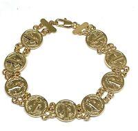 San Benito Pulsera Bracelet de Oro Laminado 7.5 Pulgadas Saint Benedict Bracelet