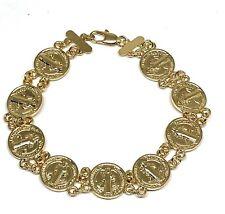 01664639824f San Benito Pulsera Bracelet de Oro Laminado 7.5 Pulgadas Saint Benedict  Bracelet