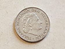Pièce monnaie coin munt 1967 Pays Bas 1 GULDEN Nederland REINE JULIANA koningin