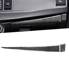 3Pcs Carbon Fiber Copilot Dashboard Panel Trim For Mitsubishi Lancer Evo 2008-14 (Fits: Mitsubishi)