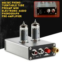 MM/MC Phono Turntable Tube Preamp Mini Electronic Audio Phonograph Pre-Amplifier