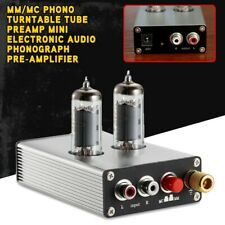 MM/MC Phono Turntable Tube Preamp Mini Electronic Audio Phonograph Pre-Amplifier