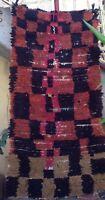 Vintage moroccan boucherouite rag rug -  164 X 84cm