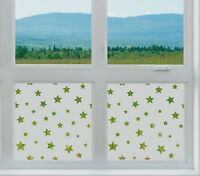 Etched Glass privacy Window Film Frosted STARS pattern shapes childrens nightime