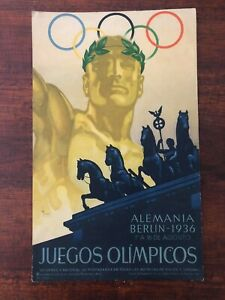 Original & Rare 1936 Summer Olympic Games ADVERTISING poster
